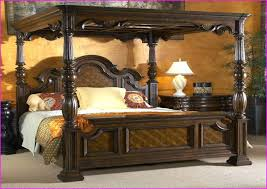 King Size Wood Canopy Bed Homemade King Size Canopy Beds With ...