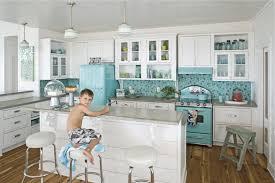 Retro Kitchen Design Pictures Custom Dazzling White Wooden Retro Kitchen Cabinets With Gray Color Granite
