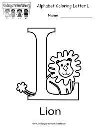 Kindergarten Letter L Coloring Worksheet Printable Worksheets