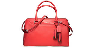 Lyst - Coach Legacy Leather Haley Satchel with Strap in Red
