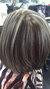 Image Result For Transition To Grey Hair With Highlights Haar