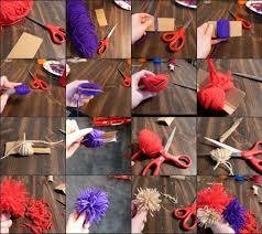 how to yarn pom poms