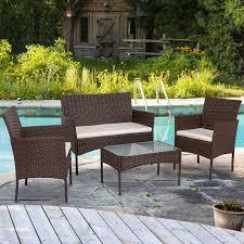 lucgo 4 piece outdoor patio furniture