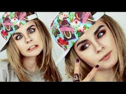 cara delevingne make up tutorial by anastasiya shpagina