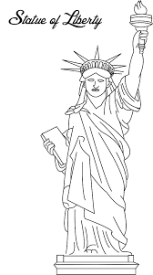 Small Picture Picture of Statue of Liberty Coloring Page Download Print