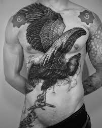 Bw Eagle Tattoo Idea On Chest Ex Tat Worx татуировки тату и
