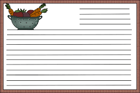 Recipe Template For Word Blank Recipe Card Template Tirevi Fontanacountryinn Com