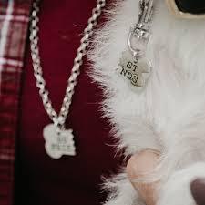 2 piece best friend necklace and pet tag set