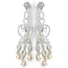 chandeliers pearl chandelier earrings clip on chandelier earrings pearl drop bridal earrings royals pearl chandelier