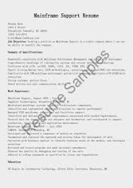 Sample Mainframe Resume Sample Mainframe Resume Enderrealtyparkco 19