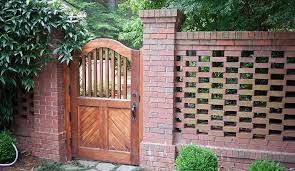 gardens brick fence backyard fences