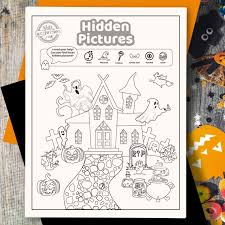 In the first printable, kids are asked to search for twelve hidden objects in scene filled with sea creatures and scuba diving animals. Spooktacular Halloween Hidden Pictures Printable Too Adorable