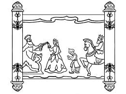 Scroll Of Purim Holiday Coloring Page Download Print Online