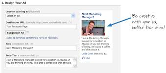 10 tips for finding a job using facebook and linkedin social write a creative ad to promote yourself facebook ads can be targeted to show up only on members pages in a particular city along a whole lot of