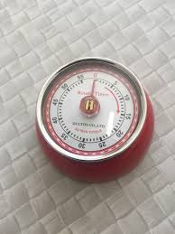 dulton kitchen timer magnetic retro vintage style colour red