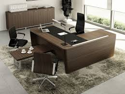 wooden l shaped office desk. L-shaped Wooden Executive Desk With Cable Management X10 | Office  L Shaped