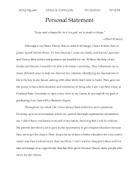 Personal Statement Outline Writing A Personal Statement For High School High School Personal