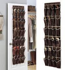 pocket shoe storage closet holder door