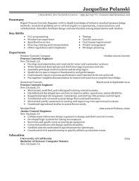 best process controls engineer resume example  livecareer