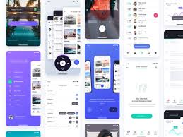 Atro Free Ui Kit With 12 Ready Made App Screens Freebiesbug
