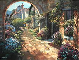 beyond garden wall by howard behrens