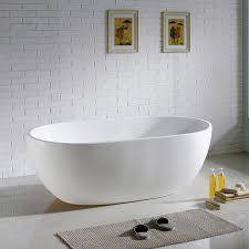 maykke barnet 61 inches modern oval acrylic bathtub freestanding of kohler expanse tub curved a for