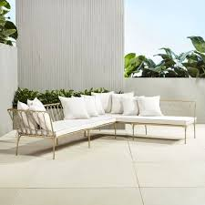 cb2 patio furniture. Photo 3 Of 4 Cb2 Patio Furniture Design Inspirations #3 Le Rêve Gold Sectional Sofa Right Arm | CB2 N