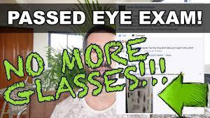 fixed eyesight dmv vision test ped no more gles not bates method