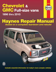 chevrolet express gmc savana full size gas vans 96 10 haynes enlarge chevrolet express gmc savana