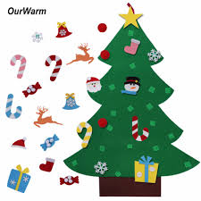 Ourwarm New Year Gifts Kids DIY Felt Christmas Tree Decorations Christmas  Gifts for 2018 New Year's Door Wall Hanging Ornaments -in Trees from Home &  Garden ...