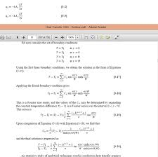 question heat transfer 2 d heat conduction text book provide a brief solution for deriving equation 3