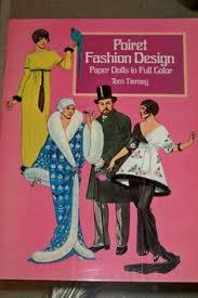 poiret fashion design paper doll book 1985 16 pages uncut tierney art