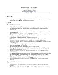 Resume For Job Example Examples Sample Resume Veterinary Assistant ...