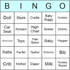 Free Baby Bingo Cards  Aspen JayBaby Shower Bingo Cards Printable