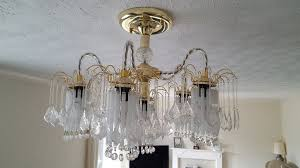 beautiful chandelier plus one for spares in leyland lancashire