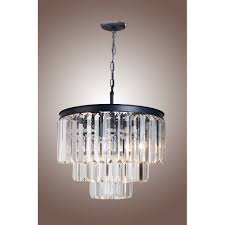 21 vintage crystal pendant ceiling light fixture 1920s odeon clear glass fringe 3