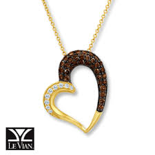 jared at westfield mission valley gift cards jewelry watches jared levian chocolate diamonds 3 4 ct tw heart necklace 14k gold designers