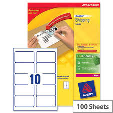Avery 10 Per Page Labels Avery L7173b 100 Block Out Shipping Labels 10 Per Sheet 99 1x57mm