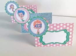 happy birthday pink and green 10 food tents bubble guppies inspired happy birthday collection