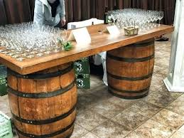 Wine barrell furniture Folding Wine Barrel Furniture Wine Barrel Bar Our Long Wine Barrel Bar Is Great Accent Piece For Your Party Or Wedding Wine Barrel Cocktail Tables Simple Rustic Wine Barrel Furniture Wine Barrel Bar Our Long Wine Barrel Bar Is