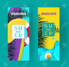 夏の明るい夏のバナー広告のデザイン要素ベクトル図のイラスト素材