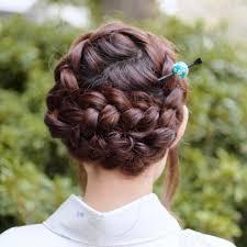着物に似合う髪型や簡単ヘアアレンジ20選ショートボブミディアム4