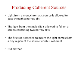 Coherent Sources Of Light Ppt Unit 8 Light And Optics Powerpoint Presentation Free