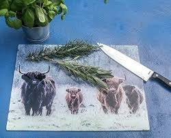 large black glass chopping board white boards for kitchens the herd highland cattle size home improvement awesome image 0 go