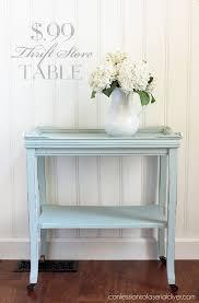 diy modern vintage furniture makeover. thrift store table makeover from confessionsofaser diy modern vintage furniture