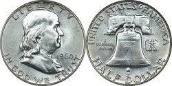 1960 Half Dollar Value Chart 1948 1963 Franklin Silver Half Dollar Melt Value Coinflation