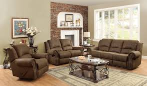 Microfiber Living Room Set Sir Rawlinson Coated Microfiber Motion Living Room Set In Brown