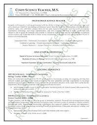 Sample Resume Teaching Professional