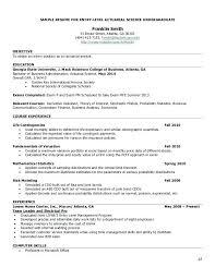 Actuary Resume Wonderful Sample Actuarial Resumes Images The Best Curriculum 90