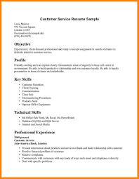 Call Center Resume Skills Resume For Customer Service Representative